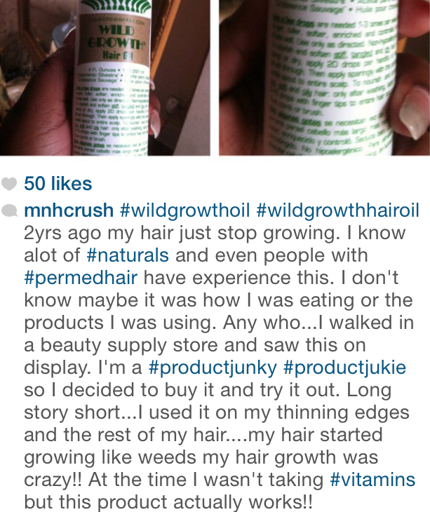 Wild Growth Hair Oil I Had To Purchase It Naturalbeauts